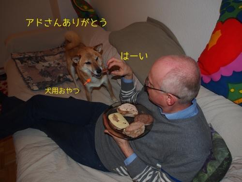 犬用おやつもらった