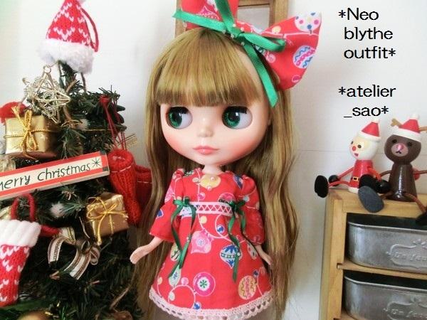 ◆ネオブライス◆クリスマス☆ワンピ赤1