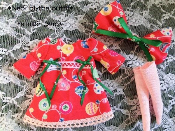 ◆ネオブライス◆クリスマス☆ワンピ赤3
