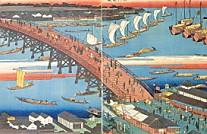 永代橋全図広重