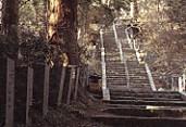 日光二荒山神社中宮祠登山口石段