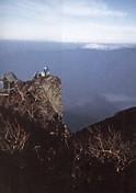 日光男体山頂上岩峰