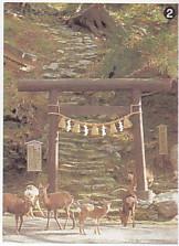 金華山黄金山信者鳥居鹿