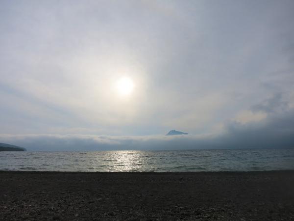 モラップキャンプ場 曇りの夕日