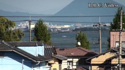 窓から見た琵琶湖(10月27日14時頃)