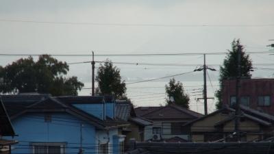 窓から見た琵琶湖(11月1日8時頃)