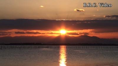 琵琶湖北湖の日の出(YouTubeムービー)