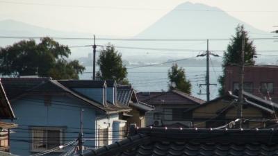 窓から見た琵琶湖(11月4日8時頃)