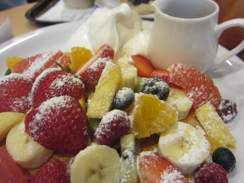 フルーツケーキファクトリーのパンケーキ