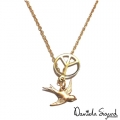 Swallow and peace necklace111