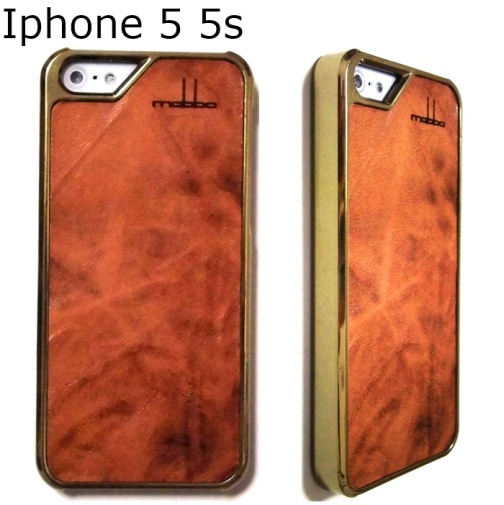 iPhone 5 5S Case leder Karamello braun gold1 (3)1