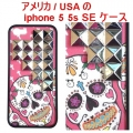 Pink Sugar Skull Silver iPhone 5 5s Case (2)