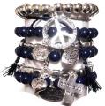 w74 Brazillia bracelet set navy silver1 (2)