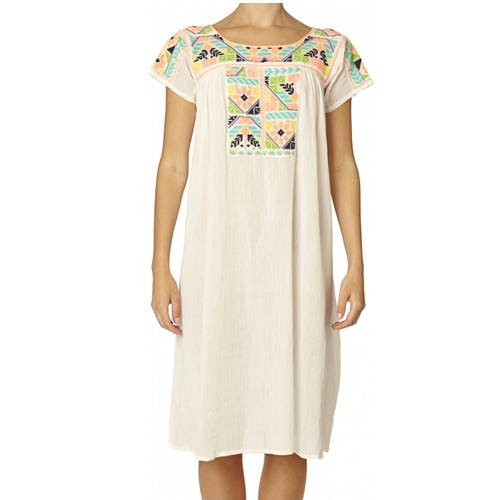 Selma Emb Dress ecru11