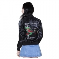 DONT WORRY SATIN JACKET BLACK11111111