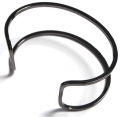 Wire Open Cuff ganmetal (1)