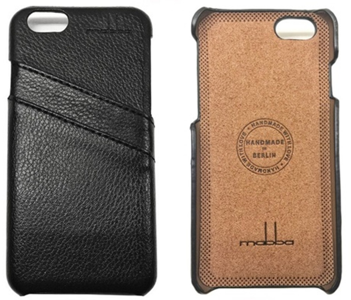 iPhone 6 Ledercase schwarz1