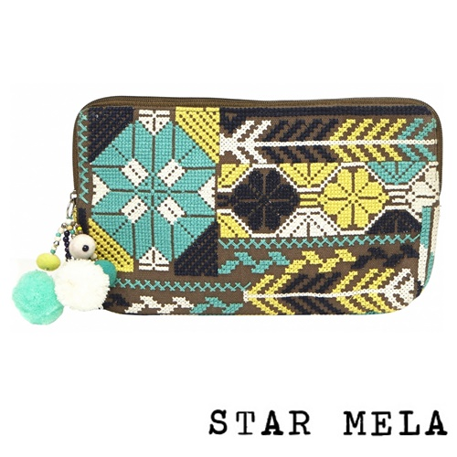 Selma Emb Purse khaki multi1