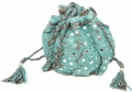 Palomi Pouch charcoal turquoise