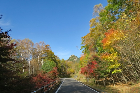 36クリスタルラインみずがき自然園への道