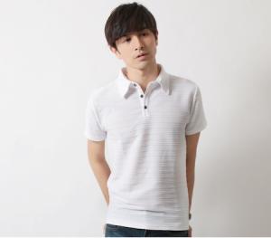 白 ポロシャツ