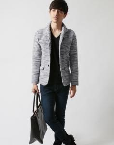 スラブ素材ジャケット メンズ
