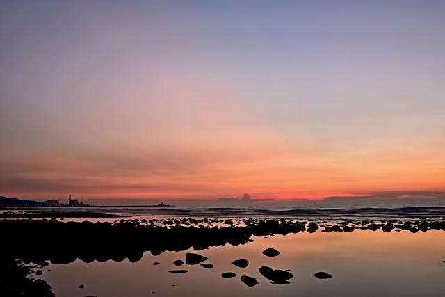 黄昏色の海岸(1)