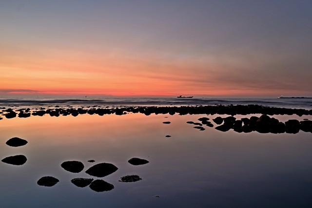 黄昏色の海岸(2)