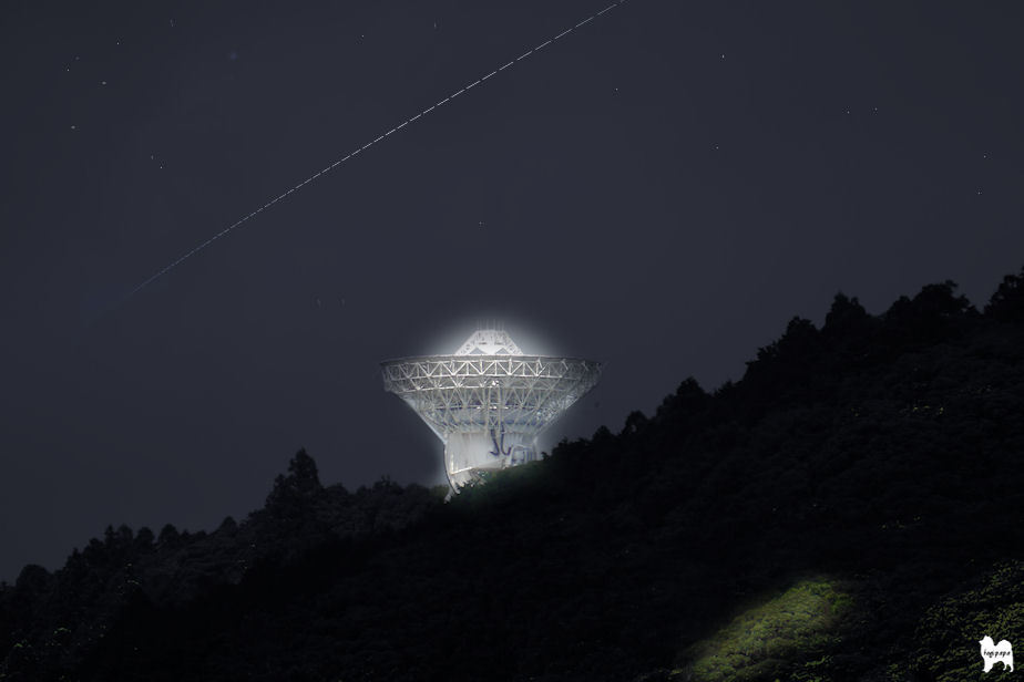 ISS光跡の合成