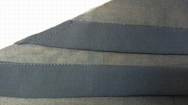 バルーンワンピース袖付け衿付け⑨