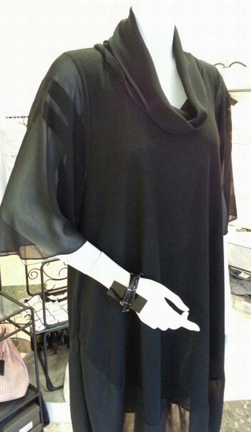 バルーンワンピース袖付け衿付け㉒