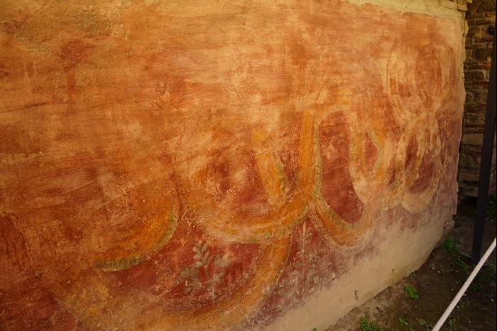 ポンペイ 娼婦の館 蛇の壁画 201603