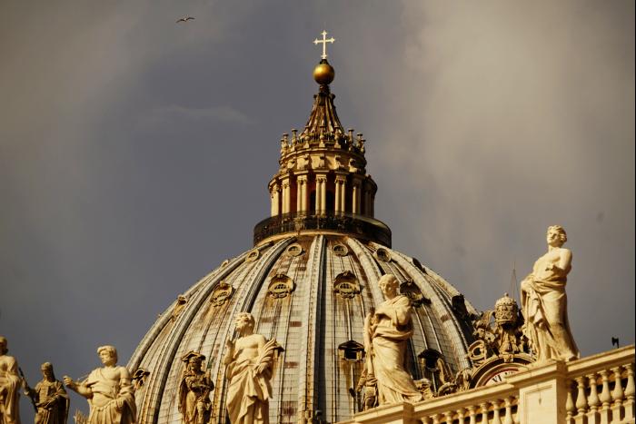 サンピエトロ大聖堂 外観 屋根 201603
