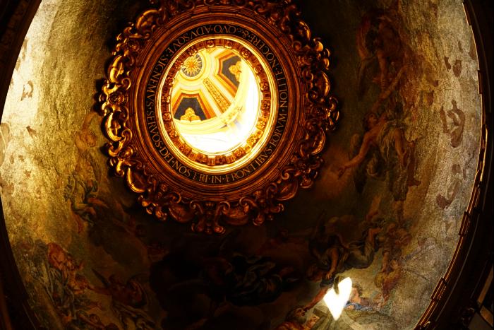 サンピエトロ大聖堂 内部 天井 装飾   201603