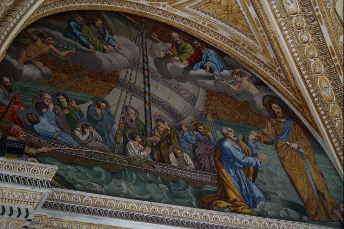 サンピエトロ大聖堂 内部 壁画 201603