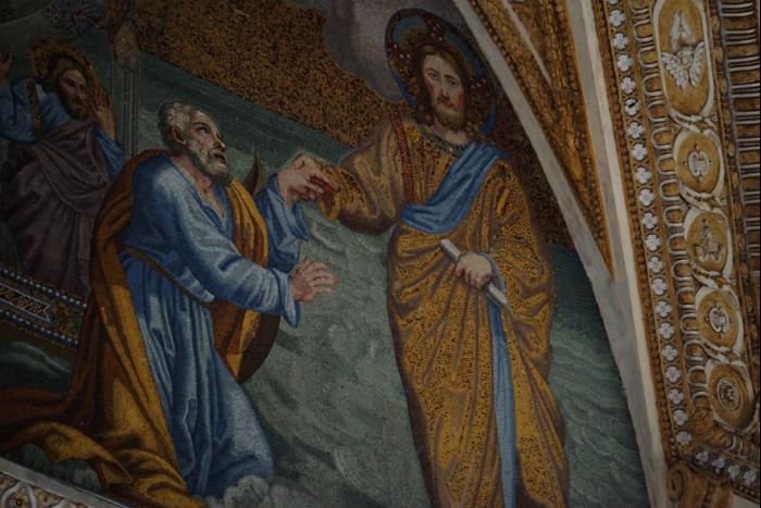サンピエトロ大聖堂 内部 壁画 イエス 201603