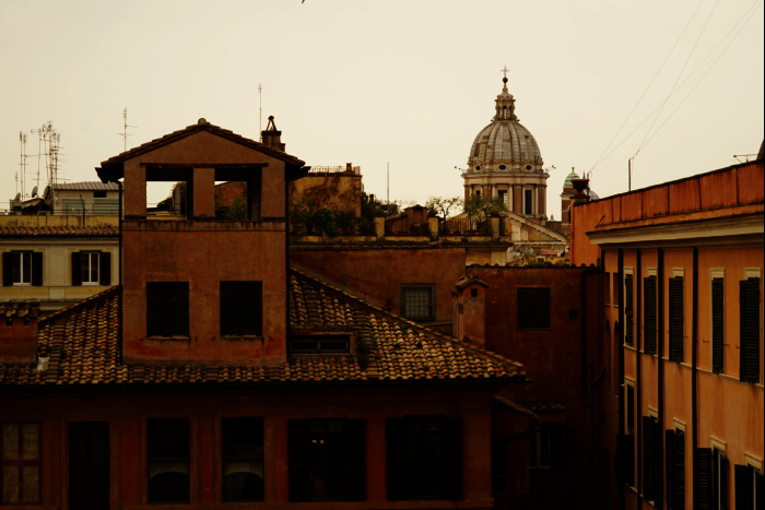 ローマ スペイン広場 街 201603