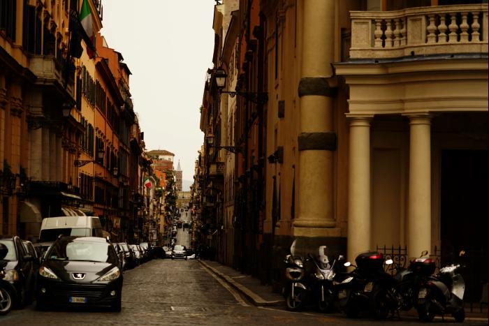 ローマ スペイン広場 街 坂 201603