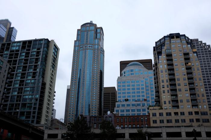 シアトル ダウンタウン 高層ビル群 2 201608