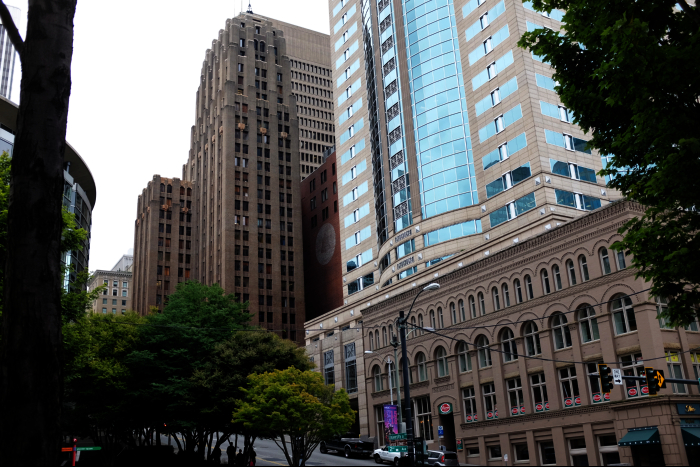 シアトル ダウンタウン 高層ビル群 201608
