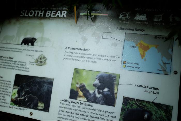 シアトル ウッドランドパーク動物園 クマ看板 201608