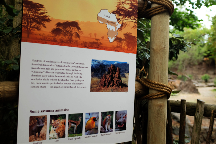 シアトル ウッドランドパーク動物園 サバンナ 動物看板 201608