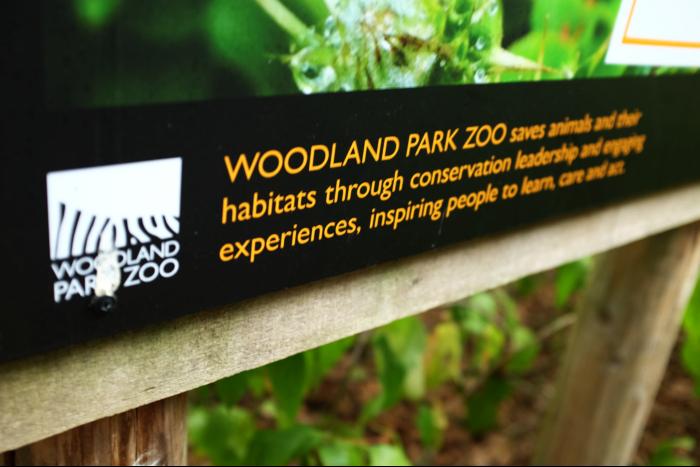 シアトル ウッドランドパーク動物園 蝶の看板 2 201608
