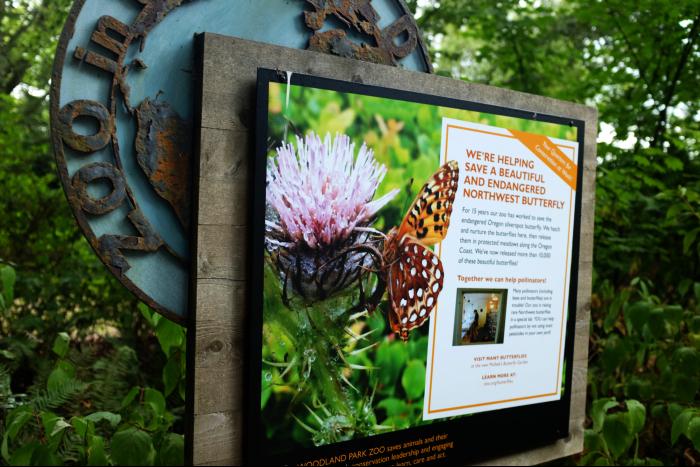 シアトル ウッドランドパーク動物園 蝶の看板 201608