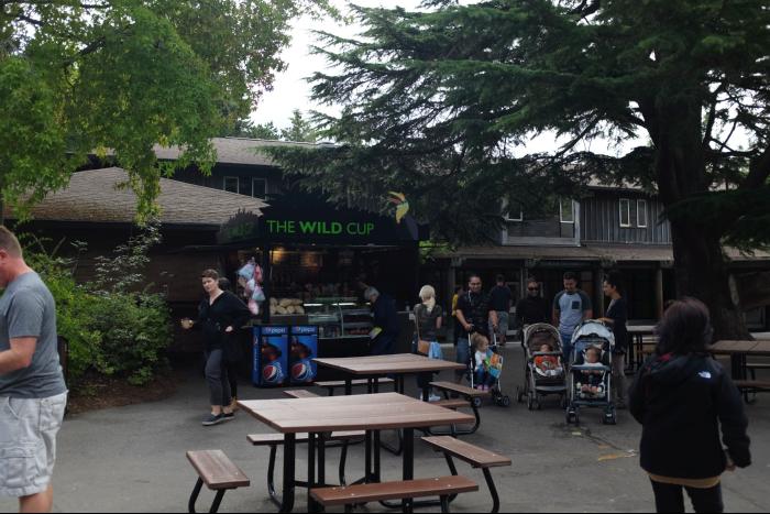 シアトル ウッドランドパーク動物園 入場後のエリア 201608