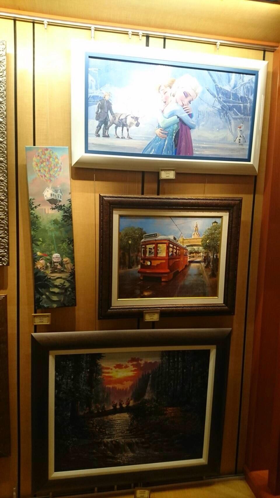 Disneyland ワールドオブディズニー ディズニーギャラリー 絵画 5 201609