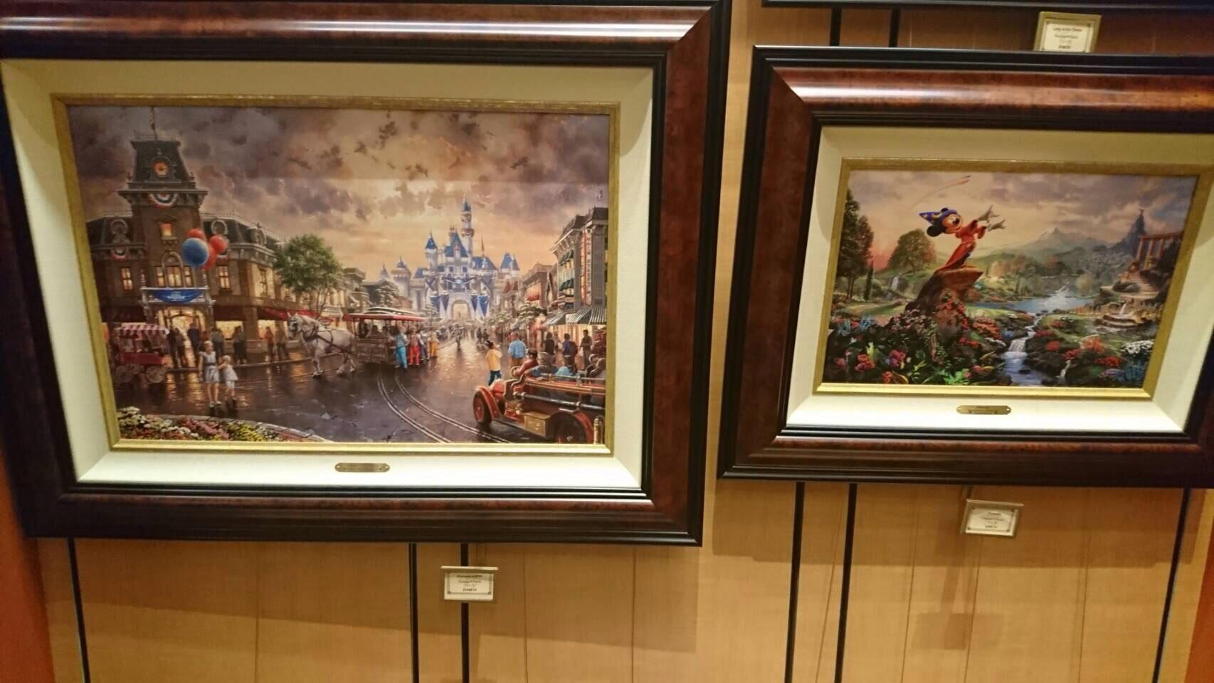 Disneyland ワールドオブディズニー ディズニーギャラリー 絵画7 201609