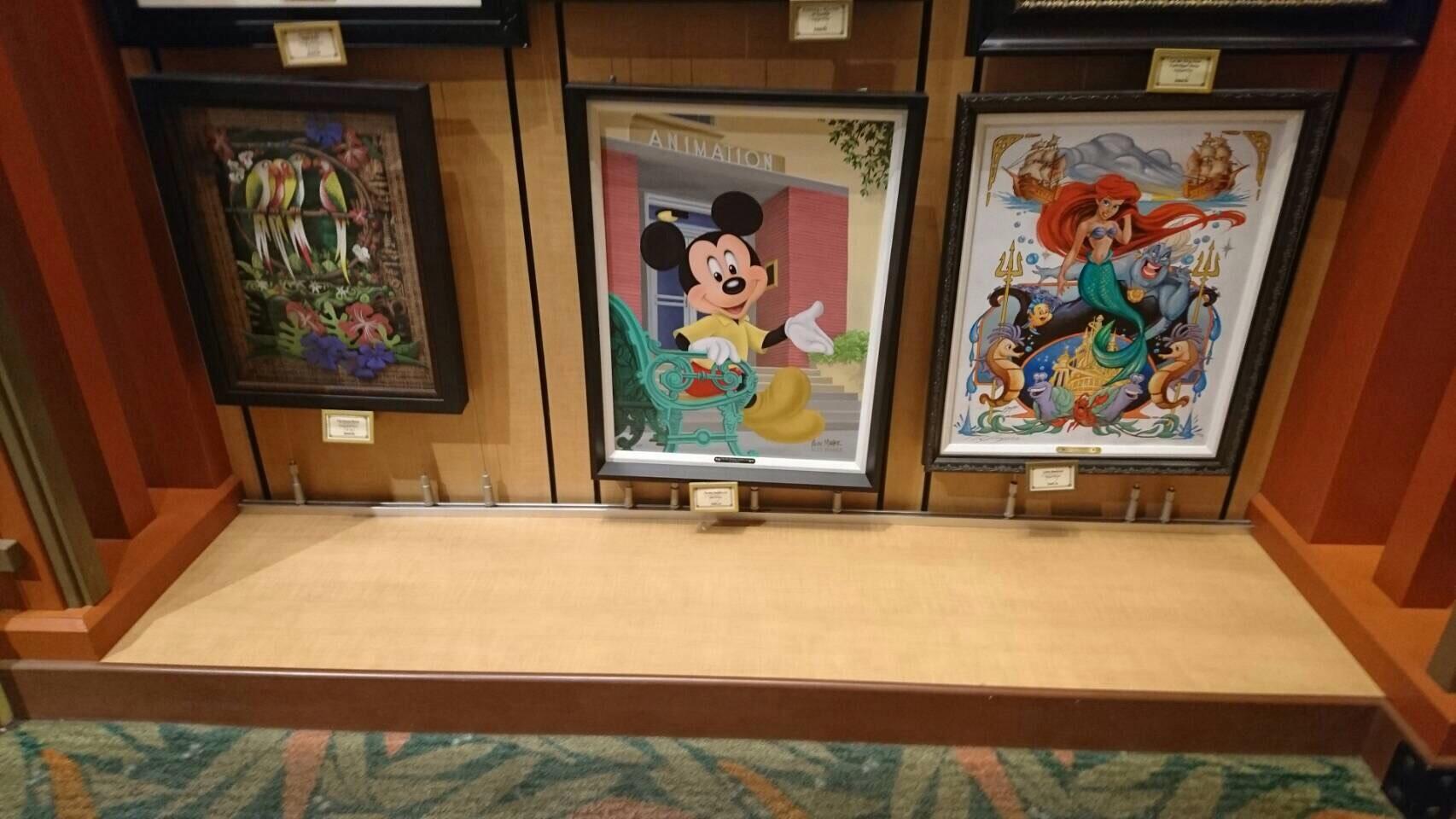Disneyland ワールドオブディズニー ディズニーギャラリー 絵画 2 201609