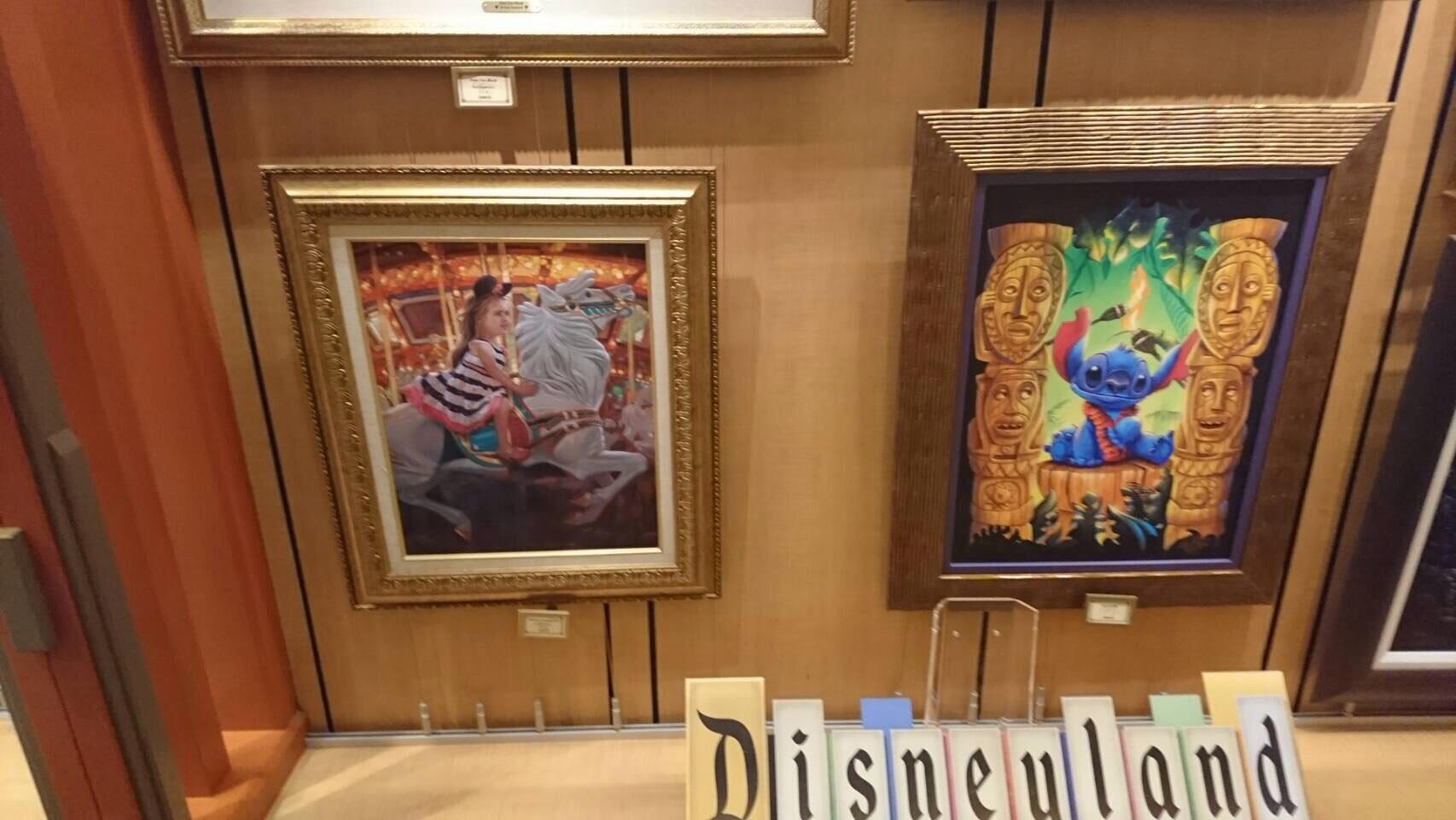 Disneyland ワールドオブディズニー ディズニーギャラリー 絵画 4 201609