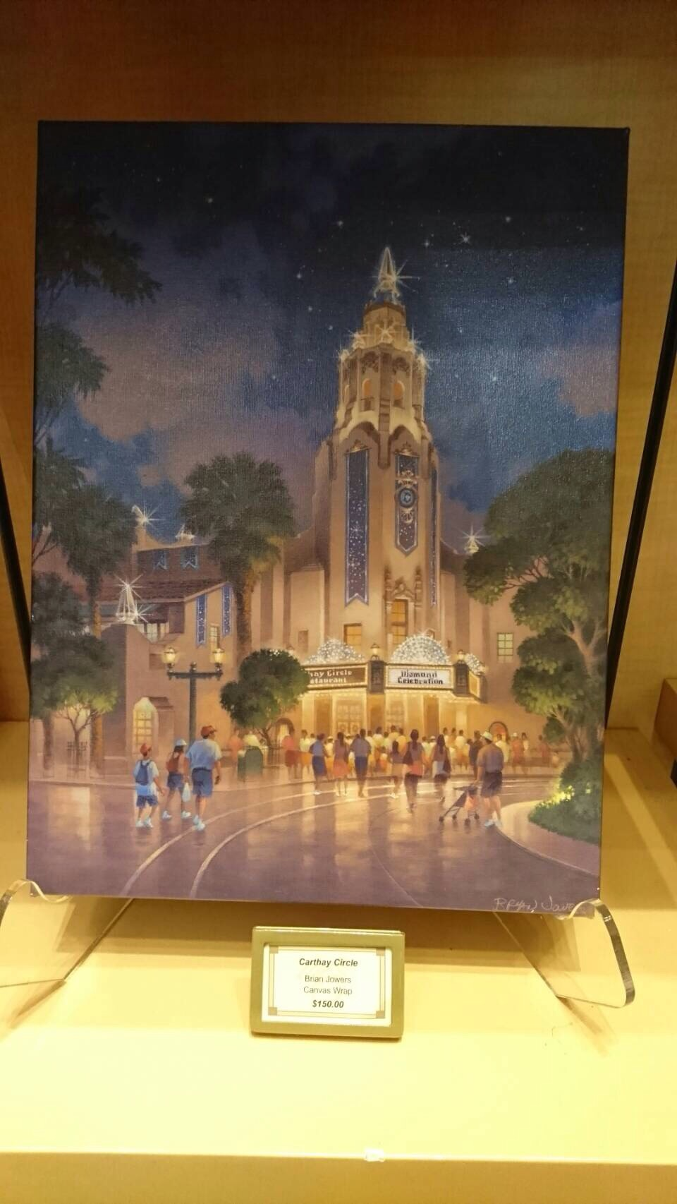 Disneyland ワールドオブディズニー ディズニーギャラリー 絵画 CA 201609